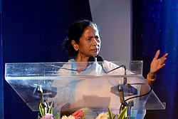 September 5, 2017 - Kolkata, West Bengal, India - Chief Minister Mamata Banerjee delivers her speech during the Teachers Day in Kolkata. West Bengal Chief Minister Mamata Banerjee felicitates teacher on the occasion of Teachers Day on September 5, 2017 in Kolkata. (Credit Image: © Saikat Paul/Pacific Press via ZUMA Wire)