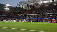Football - 2017 / 2018 Premier League - Chelsea vs Manchester United<br /> <br /> Chelsea tribute to Remembrance Day at Stamford Bridge <br /> <br /> COLORSPORT/DANIEL BEARHAM