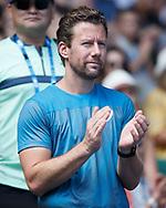 ANGELIQUE KERBER TEAM, Trainer Wim Fissette<br /> <br /> Tennis - Australian Open 2018 - Grand Slam / ATP / WTA -  Melbourne  Park - Melbourne - Victoria - Australia  - 24 January 2018.
