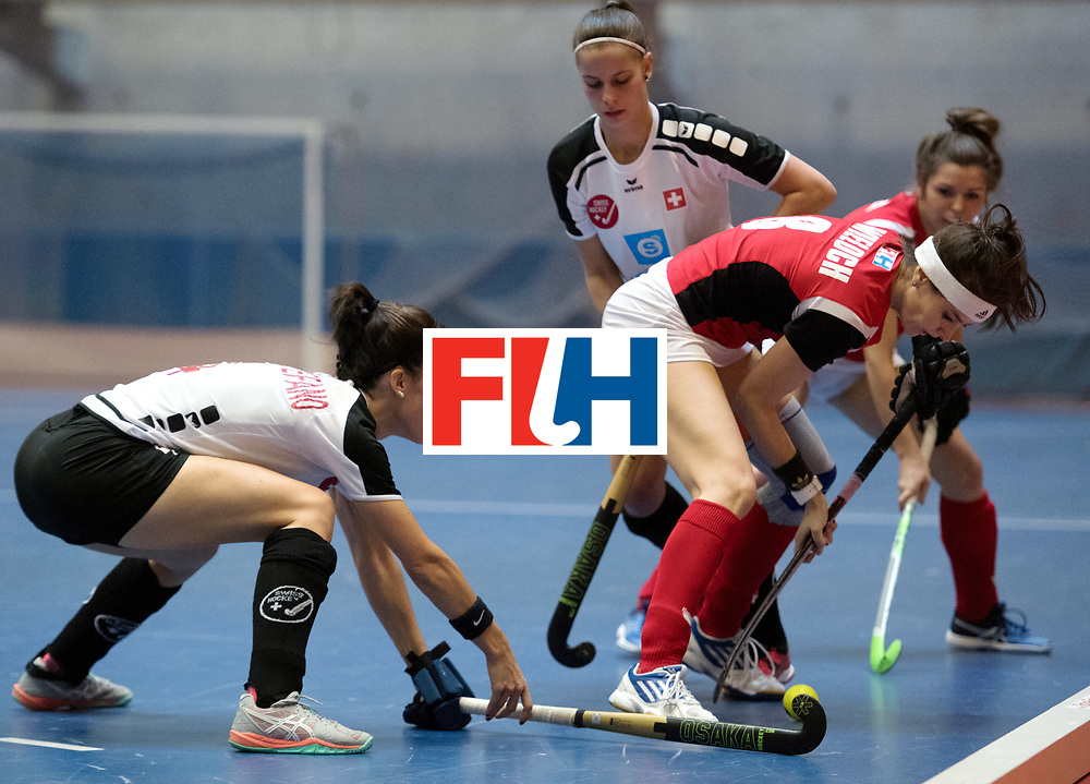 BERLIN - Indoor Hockey World Cup<br /> Switzerland - Poland<br /> foto: WIELOCH Joanna<br /> WORLDSPORTPICS COPYRIGHT FRANK UIJLENBROEK