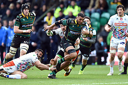 Lewis Ludlam of Northampton Saints goes on the attack - Mandatory byline: Patrick Khachfe/JMP - 07966 386802 - 12/01/2020 - RUGBY UNION - Franklin's Gardens - Northampton, England - Northampton Saints v Benetton Rugby - Heineken Champions Cup