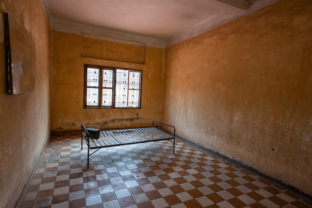 Torture cell at Tuol Sleng Khmer Rouge Prison in Phnom Penh (Cambodia).