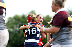 Carys Phillips of Bristol Ladies celebrates scoring a try - Mandatory by-line: Robbie Stephenson/JMP - 18/09/2016 - RUGBY - Cleve RFC - Bristol, England - Bristol Ladies Rugby v Aylesford Bulls Ladies - RFU Women's Premiership