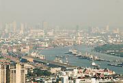 Bangkok skyline and Chao Phrayo