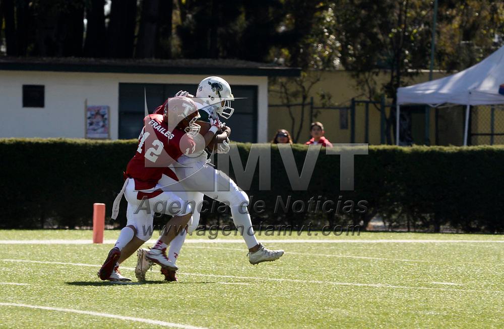 Toluca, México (Noviembre 19, 2017).- Potros Salvajes Blanco sufrió una derrota ante los Frailes de la Universidad de Tepeyac, con un marcador final de 14-32.  Agencia MVT / Crisanta Espinosa.