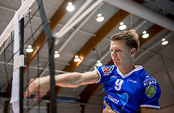 02-10-2016 NED: Supercup Abiant Lycurgus - Coniche Topvolleybal Zwolle, Doetinchem<br /> Lycurgus wint de Supercup door Zwolle met 3-0 te verslaan / Stijn van Schie #9 of Lycurgus