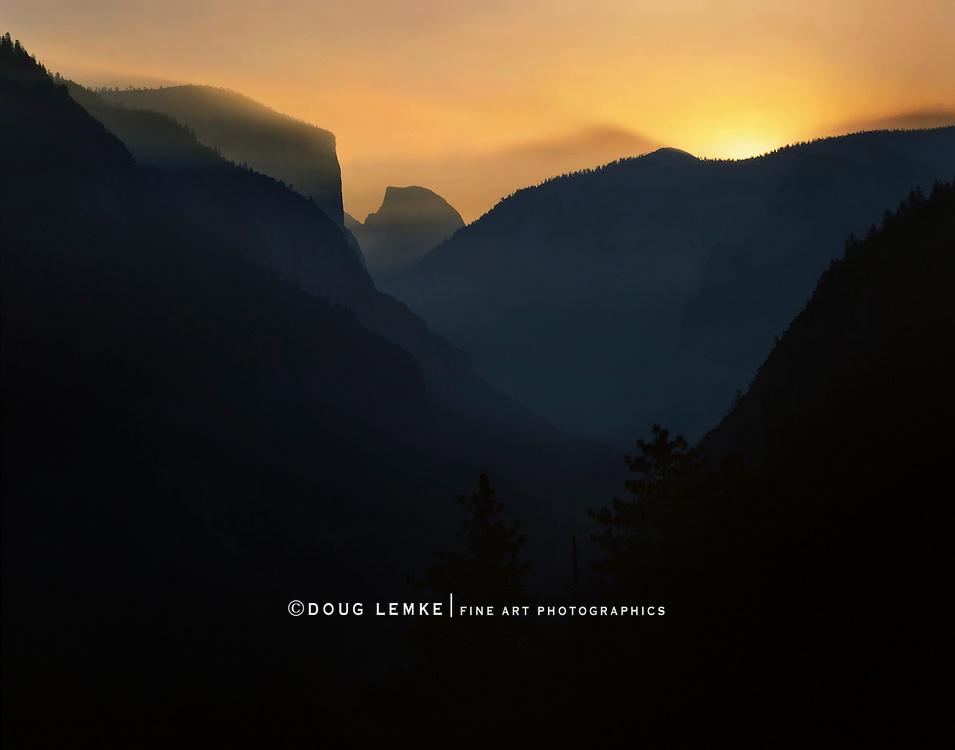 Sunrise In Yosemite Valley, Yosemite National Park, California