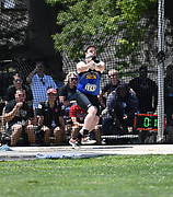 Logan Ammons (1149) of South Dakota State throws in the hammer during the NCAA West Track & Field Preliminary, Thursday, May 23, 2019, in Sacramento, Calif.