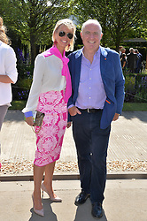 RICK STEIN and his wife SARAH BURNS at the 2014 RHS Chelsea Flower Show held at the Royal Hospital Chelsea, London on 19th May 2014.