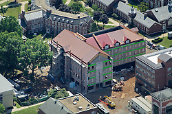 Aerial View of the Central Connecticut State University New Academic Building Project Construction Site and Surrounding Campus. CT-DCS Project No: BI-RC-324. Architect: Burt Hill Kosar Rittelmann Associates. Contractor: Gilbane Building Company