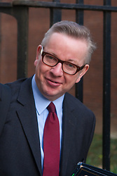 London, March 10th 2015. Ministers arrive at the weekly cabinet meeting at 10 Downing Street. PICTURED: Michael Gove, Chief Whip