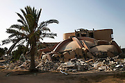 A building in Bab Al Aziziya, the Kaddafi stronghold, demolished after the fall of the regime.