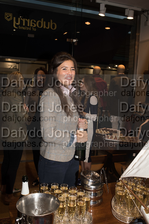 KATE HARRIS, Tatler and Dubarry host an evening with Clare Balding, Dubarry of Ireland, 34 Duke of York's Sq. London. 13 October 2016.