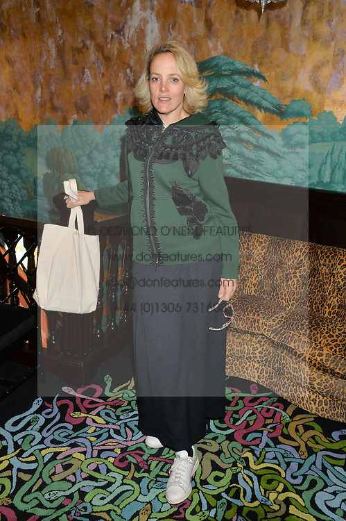 BAY GARNETT at a lunch to view Solange Azagury-Partridge's new collection - Chromance at her store at 5 Carlos Place, London on 7th October 2014.