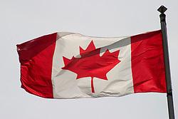 Vancouver, BC, Canada     01/Maio/2005.Bandeira canadense no Stanley Park./ Canadian Flag in Stanley park..Foto Marcos Issa/Argosfoto