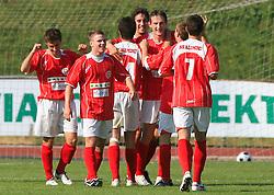 Aluminij celebrates at final match of 2nd SNL league between NK Olimpija in NK Aluminij, on May 23, 2009, ZAK, Ljubljana, Slovenia. Aluminij won 2:1. NK Olimpija is a Champion of 2nd SNL and thus qualified to 1st Slovenian football league for season 2009/2010. (Photo by Vid Ponikvar / Sportida)