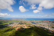Kailua from Mt. Olomana, Kailua Waimanalo, Windward oahu, Hawaii<br />