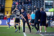 Notts County Manager Neal Ardley giving instructions during the EFL Sky Bet League 2 match between Notts County and Mansfield Town at Meadow Lane, Nottingham, England on 16 February 2019.