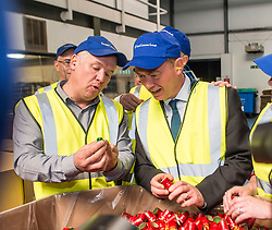 Liberal Democrat leader Tim Farron joins Scottish leader Willie Rennie and East Dumbartonshire candidate Jo Swinson on the campaign trail on a visit to Guala Closures Ltd, who supply bottle caps to the food and wine industry.<br /> <br /> © Dave Johnston/ EEm