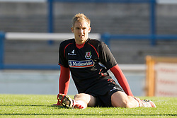CARDIFF, WALES - Wednesday, October 8, 2008: Wales' Jack Collison during training at Ninian Park ahead of the UEFA European U21 Championship Play-Off match against England. (Photo by David Rawcliffe/Propaganda)