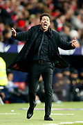 Atletico Madrid's Argentinian coach Diego Simeone gestures during the Spanish Championship Liga football match between Atletico de Madrid and Real Sociedad on December 2, 2017 at the Wanda Metropolitano stadium in Madrid, Spain - Photo Benjamin Cremel / ProSportsImages / DPPI