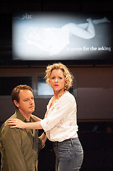 © Licensed to London News Pictures. 05/09/2012. The Orange Tree Theatre, Richmond presents the UK premiere of this enthralling European play by Ana Diosdado. Picture shows: Steven Elder as Juan and Mia Austen as Susie. Photo credit : Tony Nandi/LNP