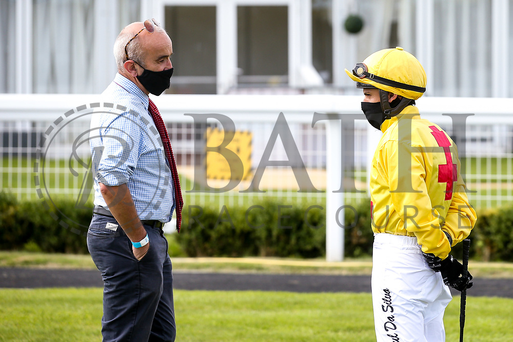Jockey Raul Da Silva trainer James Grassick - Mandatory by-line: Robbie Stephenson/JMP - 18/07/2020 - HORSE RACING- Bath Racecourse - Bath, England - Bath Races 18/07/20