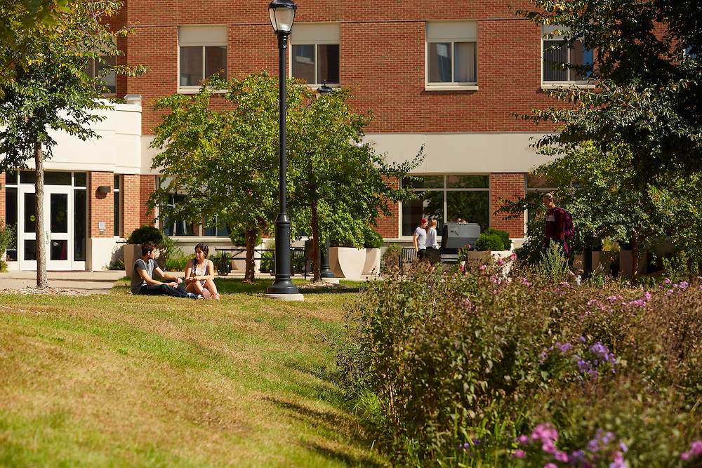 Activity; Talking; Socializing; Studying; Buildings; Eagle Hall; Location; Outside; Fall; October; People; Student Students; Time/Weather; day; sunny; Type of Photography; Candid; UWL UW-L UW-La Crosse University of Wisconsin-La Crosse; Diversity