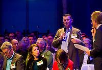 UTRECHT - Dylan Weggeman, A tribe called Golf, de kracht van de connectie. Nationaal Golf Congres van de NVG 2014 , Nederlandse Vereniging Golfbranche. COPYRIGHT KOEN SUYK