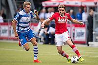 ZWOLLE - 18-09-2016, PEC Zwolle - AZ, MAC3park Stadion, 0-2, PEC Zwolle speler Nicolai Brock-Madsen, AZ speler Ben Rienstra