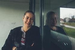 Lia Salehar, drzavni prvakinji v kategoriji dvojic v badmintonu, ki trenirata in zivita na Danskem, Slovenci v tujini, Kocevje, 1.2.2018, Slovenia. Photo by Grega Valancic / Sportida