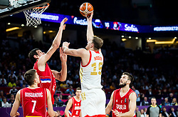 Boban Marjanovic of Serbia vs Timofey Mozgov of Russia during basketball match between National Teams of Russia and Serbia at Day 16 in Semifinal of the FIBA EuroBasket 2017 at Sinan Erdem Dome in Istanbul, Turkey on September 15, 2017. Photo by Vid Ponikvar / Sportida