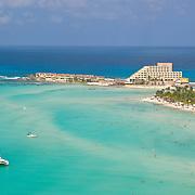 Aerial shot of North beach. Isla Mujeres,Quintana Roo.MX