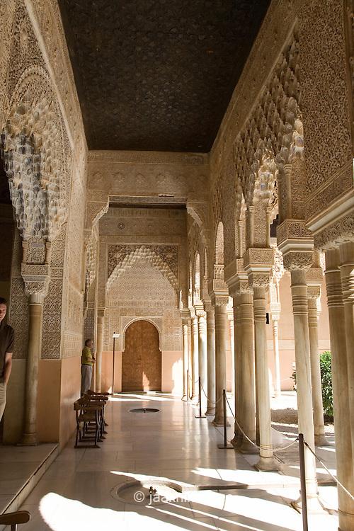 Interior of Alhambra Palace in Granada, Andalucia, Spain