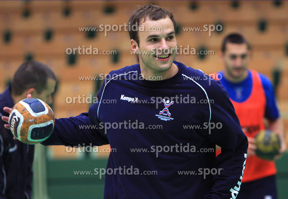 Uros Zorman at practice of Slovenian handball men national team before going to Israel, on October 27, 2008 in Lasko, Slovenia. (Photo by Vid Ponikvar / Sportal Images)