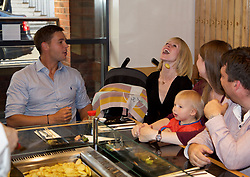 LIVERPOOL, ENGLAND - Thursday, June 15, 2017: Marcus Willis (GBR) and his wife Jenny Bate at Sapporo Teppanyaki  on Day One of the Liverpool Hope University International Tennis Tournament 2017 at the Liverpool Cricket Club. (Pic by David Rawcliffe/Propaganda)