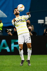 February 21, 2019 - Saint Petersburg, Russia - Alper Potuk of Fenerbahce SK in action during the UEFA Europa League Round of 32 second leg match between FC Zenit Saint Petersburg and Fenerbahce SK on February 21, 2019 at Saint Petersburg Stadium in Saint Petersburg, Russia. (Credit Image: © Mike Kireev/NurPhoto via ZUMA Press)