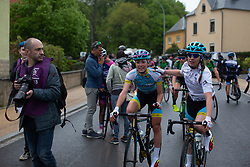 Sofia Bertizzolo after Stage 1 of the Festival Elsy Jacobs - a 97.7 km road race, starting and finishing in Steinfort on April 28, 2018, in Luxembourg. (Photo by Balint Hamvas/Velofocus.com)