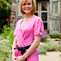 LONDON, UK - 21 May 2012: Amanda Holden poses at the L'Occitane Immortelle Garden during the RHS Chelsea Flower Show 2012.