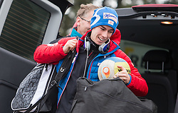 04.01.2015, Bergisel Schanze, Innsbruck, AUT, FIS Ski Sprung Weltcup, 63. Vierschanzentournee, Innsbruck, vor dem Probesprung, im Bild Stefan Kraft (AUT) // Stefan Kraft of Austria before Trial Jump for the 63rd Four Hills Tournament of FIS Ski Jumping World Cup at the Bergisel Schanze in Innsbruck, Austria on 2015/01/04. EXPA Pictures © 2015, PhotoCredit: EXPA/ JFK