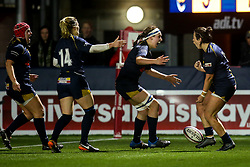 Sioned Harries of Worcester Warriors Women celebrates with teammates after scoring a try - Mandatory by-line: Robbie Stephenson/JMP - 11/01/2020 - RUGBY - Sixways Stadium - Worcester, England - Worcester Warriors Women v Richmond Women - Tyrrells Premier 15s