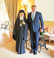 25-04-2014 Zijne Majesteit de Koning ontvangt vrijdag 25 april op de Eikenhorst in Wassenaar in audiëntie de Oecumenische Patriarch van Constantinopel, Zijne Heiligheid Bartholomeus I. COPYRIGHT ROBIN UTRECHT
