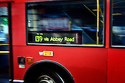 London | 09 Apr 2010<br /> <br /> Bus line 139 to Abbey Road.<br /> <br /> &copy;peter-juelich.com<br /> <br /> [No Model Release | No Property Release]