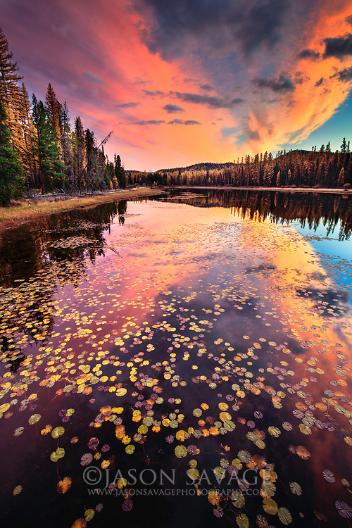Sunset lights up over Seeley Lake in western Montana.