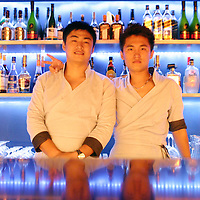 BEIJING, JULY-27: bartenders at  the Ice House ...This stylish establishment (its name is an abbreviation of ?Restaurant, Bar and Lounge?) , a blues-bar bear the Forbidden City is one of the top venues in Beijing that draws locals and expats alike...Handel Lee, the restaurant's American owner, is responsible for some of Beijing's and Shanghai's most interesting hotel and restaurant developments