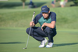 August 10, 2018 - Town And Country, Missouri, U.S - NICK WATNEY from Dixon California, USA lines up his putt on the fourth green during round two of the 100th PGA Championship on Friday, August 10, 2018, held at Bellerive Country Club in Town and Country, MO (Photo credit Richard Ulreich / ZUMA Press) (Credit Image: © Richard Ulreich via ZUMA Wire)
