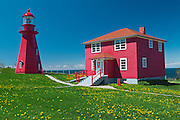 lighthouse on Gaspe Peninsula<br /> La Martre<br /> Quebec<br /> Canada