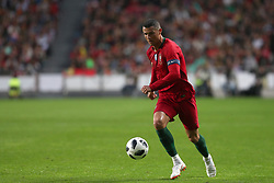 June 7, 2018 - Lisbon, Portugal - Portugal's forward Cristiano Ronaldo in action during the FIFA World Cup Russia 2018 preparation football match Portugal vs Algeria, at the Luz stadium in Lisbon, Portugal, on June 7, 2018. (Credit Image: © Pedro Fiuza via ZUMA Wire)