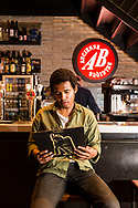 Benjamin Booker, American musician, singer, songwriter and guitarist. Pictured at Cafe AB in Brussels 12 May 2017. Photo: Erik Luntang