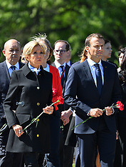 French President at St Petersburg - 25 May 2018